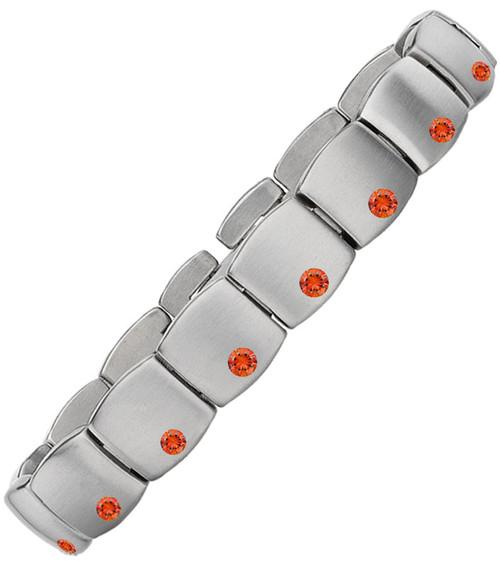 Gent's Titanium with Orange Sapphires