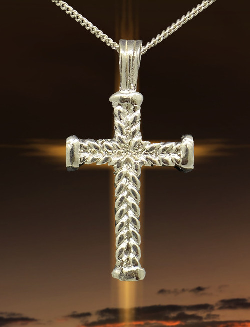 JS Crux Immissa of .925 Polished Sterling Silver