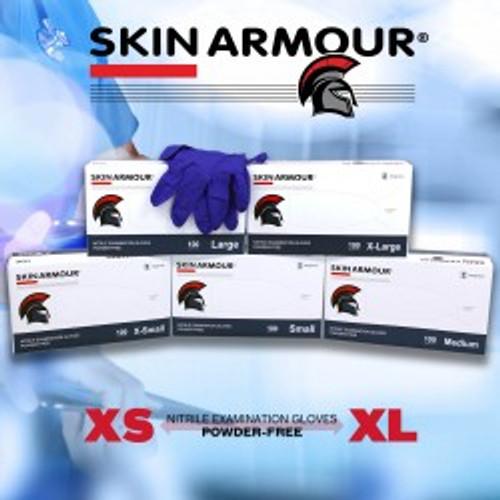Skin Armour-Nitrile gloves cobalt-blue