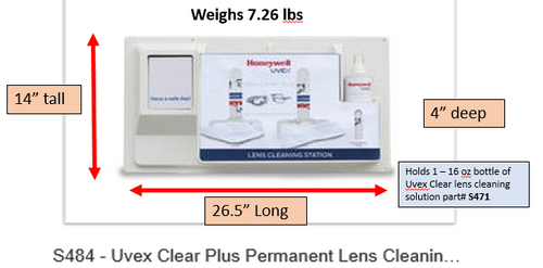 Uvex Clear® Plus Permanent Lens Cleaning Station