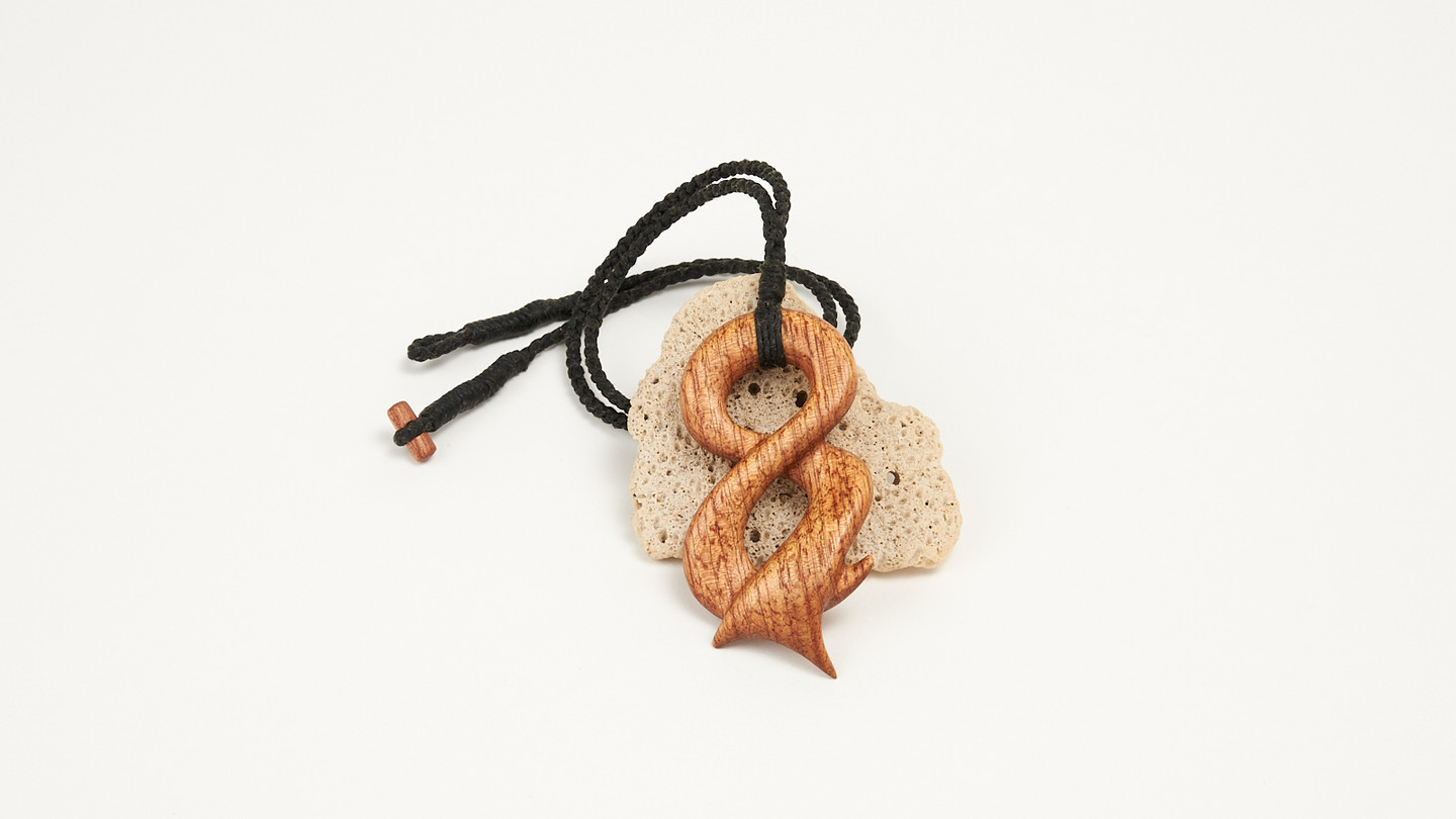 Infinite is a handmade pendant in wood from Gilmour Design.