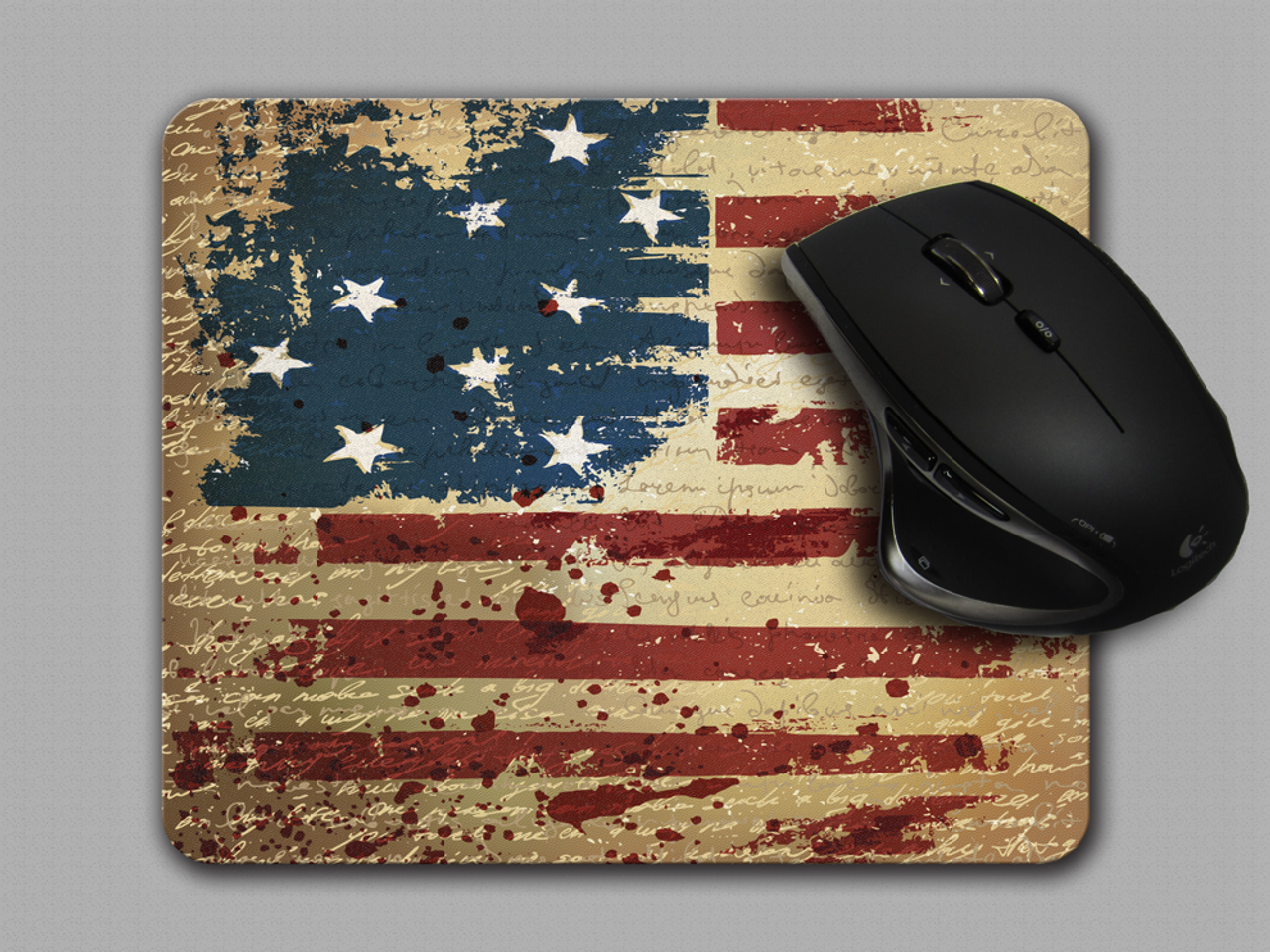 American Flag with declaration of independence overlay Mouse Pad