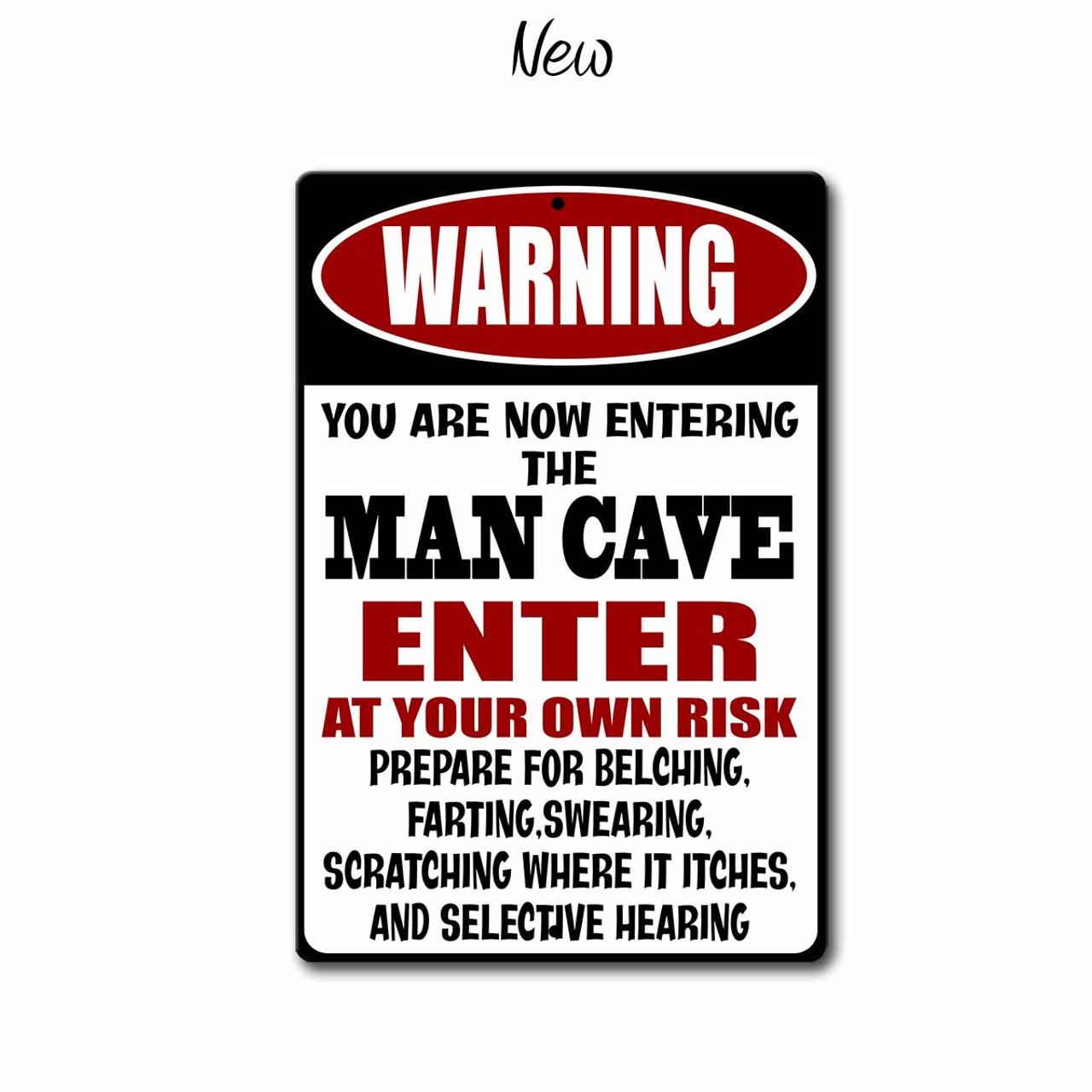 Camping tin metal sign man cave new garage