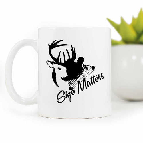 Size Matters Deer hunting Coffee Mug | Blue Fox Gifts