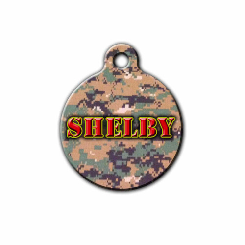 USMC inspired Pet ID Tag, Personalized Pet Tag | Blue Fox Gifts
