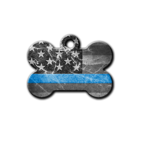 Black and white US flag featuring Thin Blue line | Blue Fox Gifts