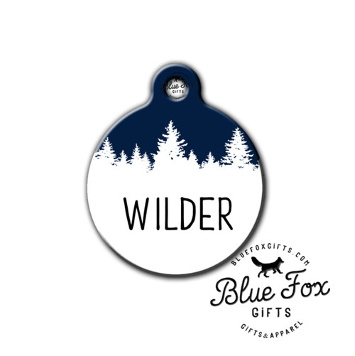 Tree dog tag,Outdoor pet tag,hiking pet tag   Blue Fox Gifts