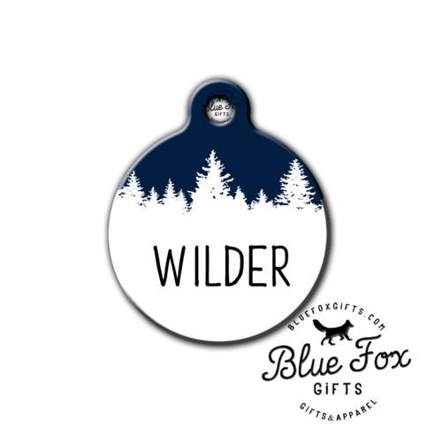 Tree dog tag,Outdoor pet tag,hiking pet tag | Blue Fox Gifts