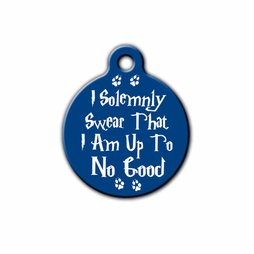 Royal Blue Solemnly Swear Pet Tag | Blue Fox Gifts