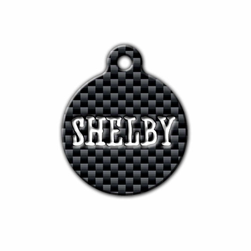 Carbon Fiber Pet ID Tag | Blue Fox Gifts