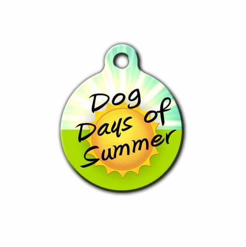 Dog Days of Summer Dog ID Tag, Front | Blue Fox Gifts
