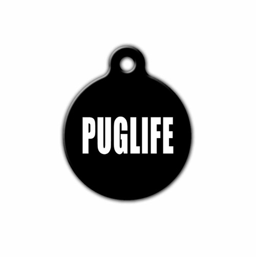 PUGLIFE Pet ID Tag, Front | Blue Fox Gifts