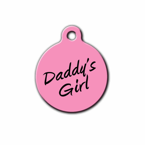 Daddy's Girl Round Pet ID Tag | Blue Fox Gifts