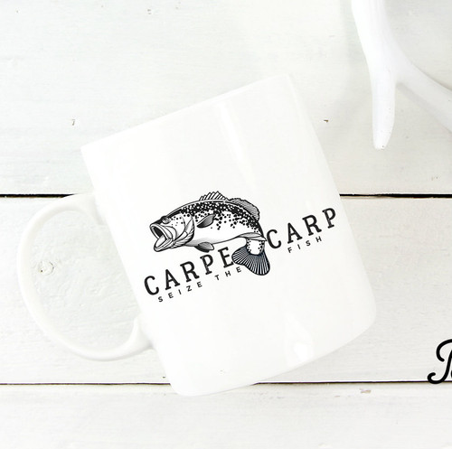 Carpe Carp - Ceramic Coffee mug Thumbnail | Blue Fox Gifts