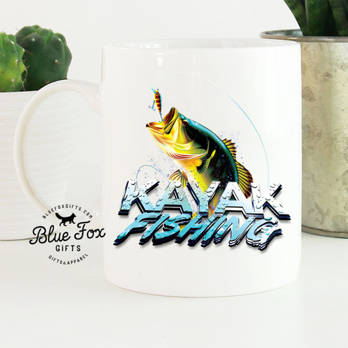 Kayak Fishing Large Mouth Bass Coffee Mug | Blue Fox Gifts