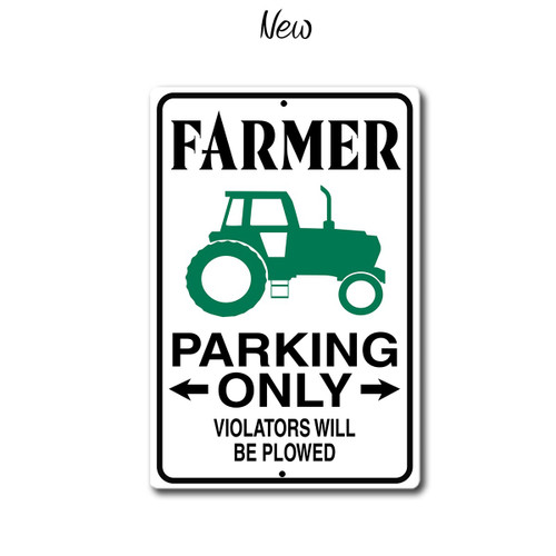 Farmer Parking Only metal Sign, New Style | Blue Fox Gifts