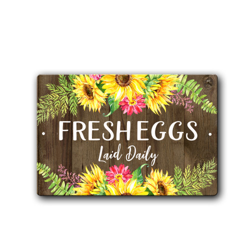 Fresh Eggs Daily Chicken Coop Sign, Funny Chicken Sign | Blue Fox Gifts