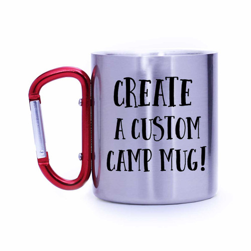 Custom Stainless Carabiner Camp Mug | Blue Fox Gifts