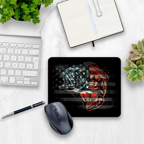 American Bass Cloth Top Mouse Pad | Blue Fox Gifts