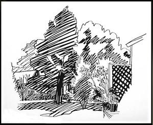 JEANNIE'S BACKYARD, EAST HAMPTON BY TOM WESSELMANN