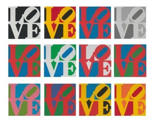 BOOK OF LOVE SUITE (PORTFOLIO OF 12) BY ROBERT INDIANA