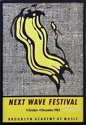 NEXT WAVE FESTIVAL POSTER (SIGNED) BY ROY LICHTENSTEIN