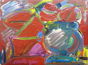 GREEN VASE BY PETER MAX