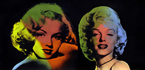 DOUBLE MARILYN - NORMA JEAN (BLK) BY STEVE KAUFMAN