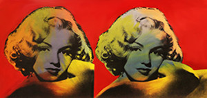 DOUBLE MARILYN - NORMA JEAN (RED) BY STEVE KAUFMAN