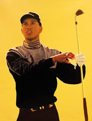TIGER WOODS - THE STARE BY STEVE KAUFMAN