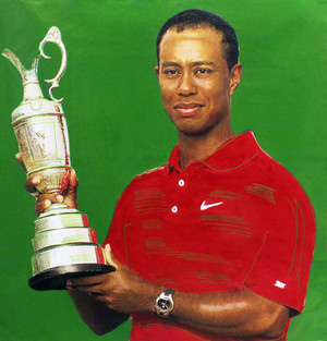 TIGER WOODS - VICTORY! BY STEVE KAUFMAN