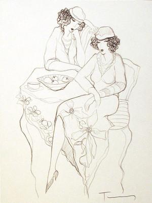 WOMEN WAITING TOGETHER BY ITZCHAK TARKAY