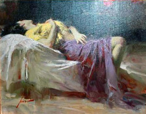 AFTERNOON REPOSE (HAND EMBELLISHED) BY PINO