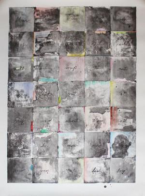 WALL CHART II BY JIM DINE