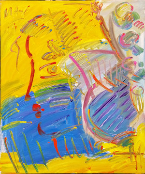 BLUSHING BEAUTY (YELLOW) BY PETER MAX