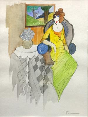 WOMAN BY THE WINDOW BY ITZCHAK TARKAY