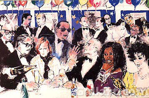 CELEBRITY NIGHT AT SPAGO BY LEROY NEIMAN