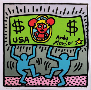 ANDY MOUSE III BY KEITH HARING