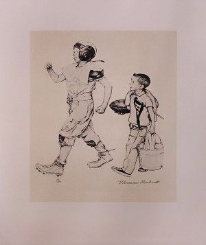 FOOTBALL HERO BY NORMAN ROCKWELL
