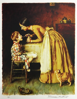 TOM SAWYER, THE MEDICINE BY NORMAN ROCKWELL
