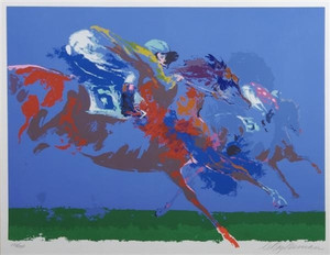 IN THE STRETCH BY LEROY NEIMAN