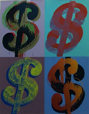 $ DOLLAR SIGN (QUANDRANT) FS II.283 BY ANDY WARHOL