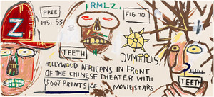 HOLLYWOOD AFRICANS IN FRONT OF THE CHINESE THEATRE BY JEAN-MICHEL BASQUIAT
