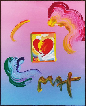 HEART (OVERPAINT) BY PETER MAX