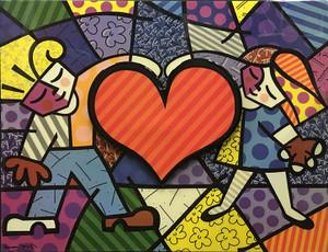 BIG HEART BY ROMERO BRITTO