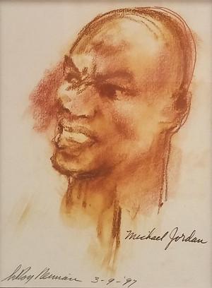 MICHAEL JORDAN BY LEROY NEIMAN