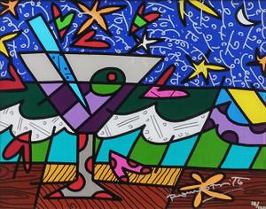 STARS N GLASS BY ROMERO BRITTO