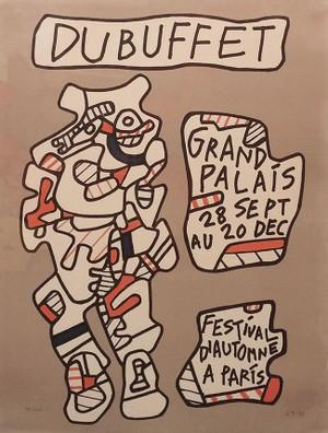 AFFICHE (GRANDE PALAIS FESTIVAL D' AUTOMNE A PARIS) BY JEAN DUBUFFET