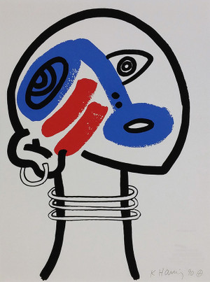 THE STORY OF RED + BLUE (17) BY KEITH HARING