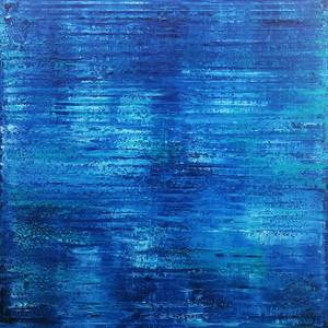 BLUE ABSTRACT (Q32) BY AL RAZZA